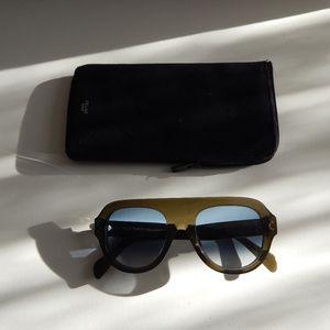 AUTHENTIC Céline Green Aviator Sunglasses